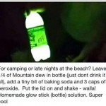 Glow in the dark Mountain Dew
