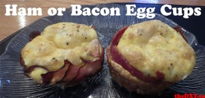 ham or bacon cups